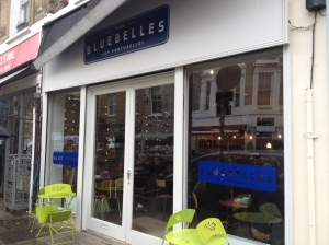 Bluebelles sitting at the top of Portobello Road